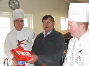 Butcher Mr. Koos Roelofse, sous chef, Warwick's Chef School, chef Training, chef, Cake Decorating and Baking, fire prevention in the kitchen